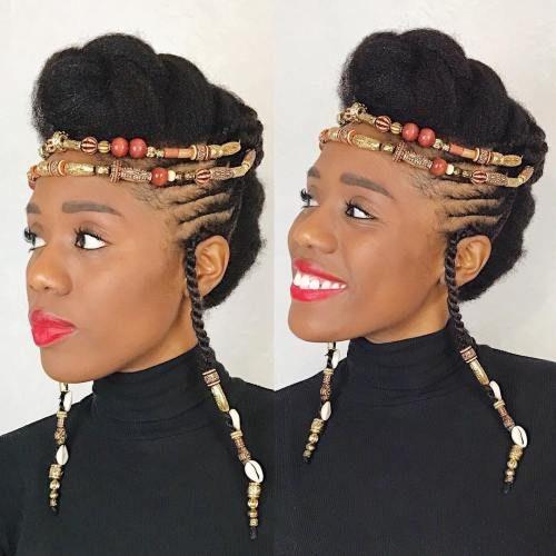 Wunderschöne Frisuren mit Perlen und Zöpfen