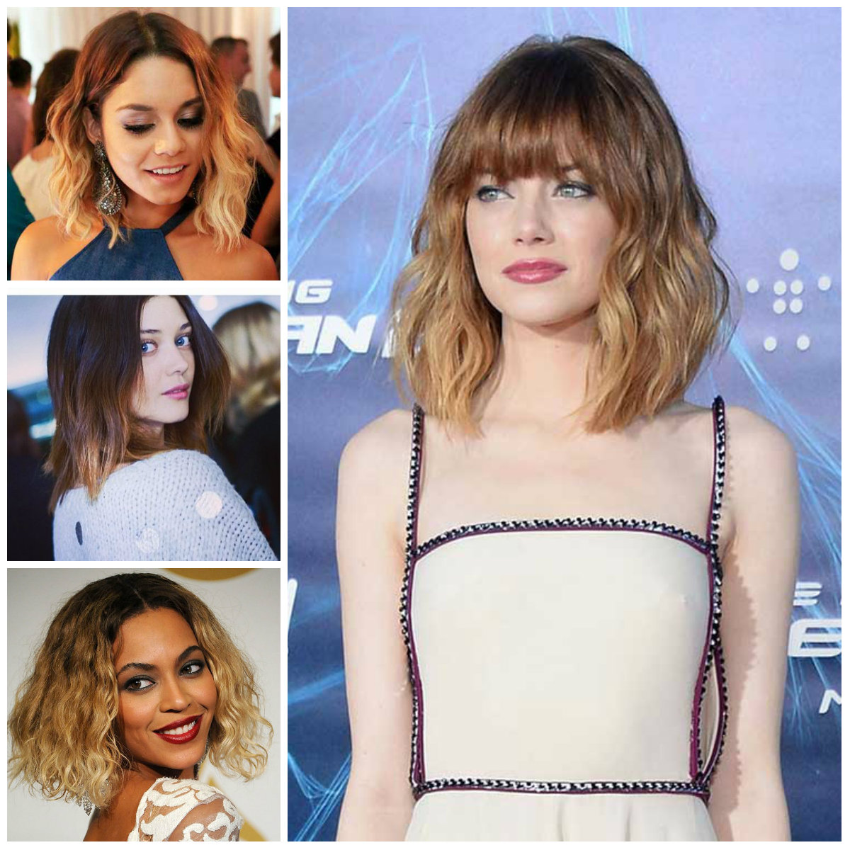 Neu Trendy Long Bob Frisuren in Ombre