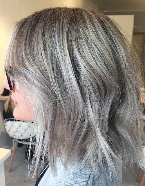 Coolste graue Frisuren für Neu