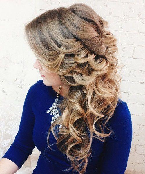 40 wunderschöne Hochzeit Frisuren für langes Haar