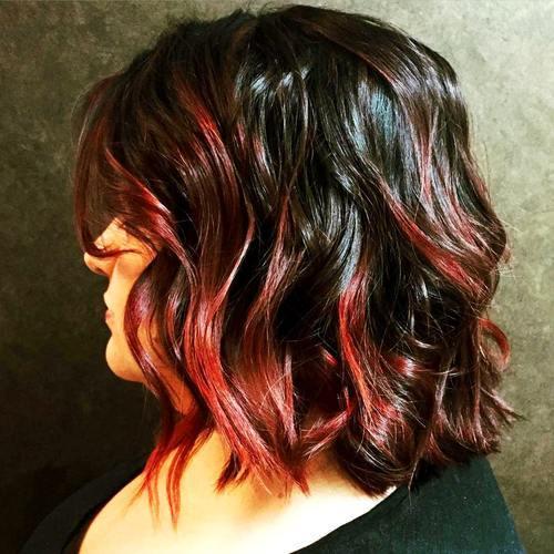 25 spannende Ideen für rotes Ombre-Haar