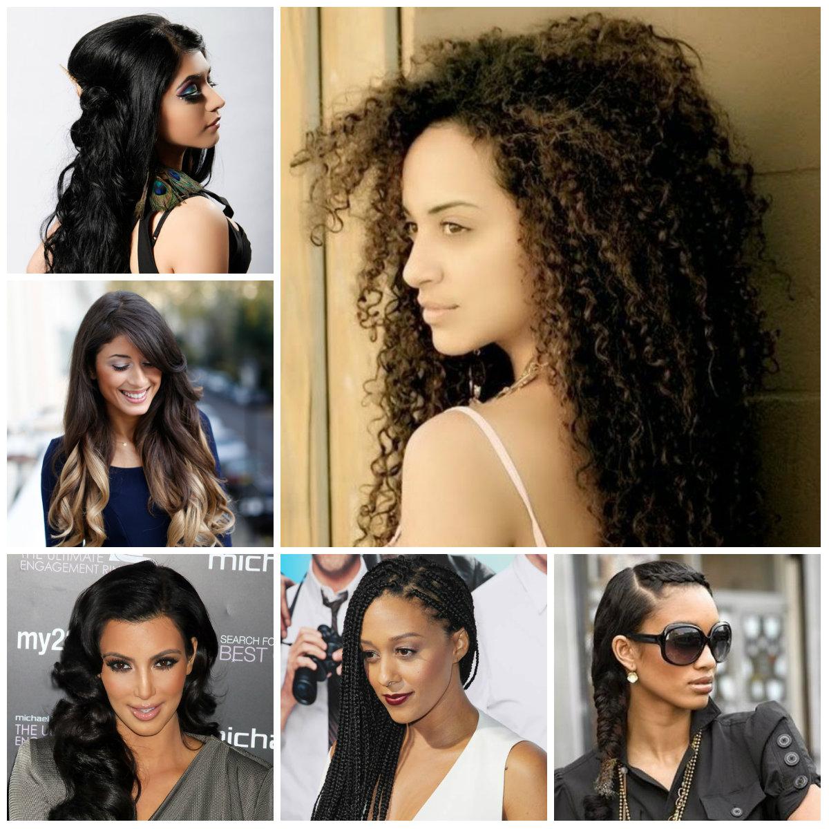 Neu heißeste lange schwarze Frisuren