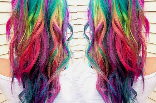20 Regenbogen-Haar-Bilder, um dem Einhorn-Stamm beizutreten
