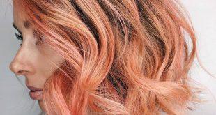 Peachy Keen Frühling Haarfarbe