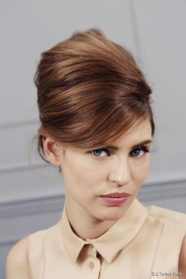NYE Neu: Beehive Hochsteckfrisur für mittellanges Haar