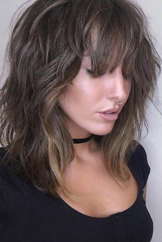 30 Damen Frisuren mit Pony für glamourösen Look