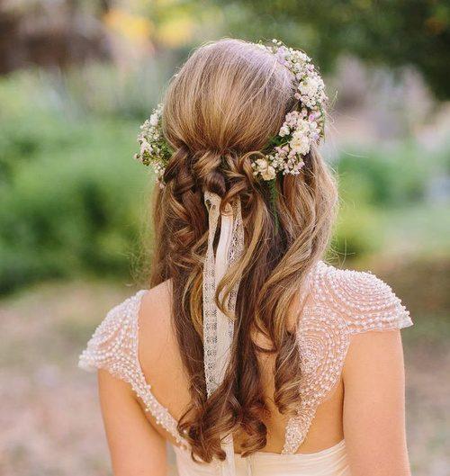 Hochzeit Half Updo Frisuren für Beste Frisur