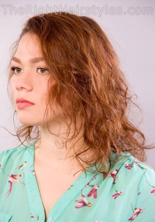 How To: Nasses Aussehen Scrunched Haar