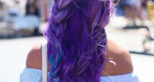 9 perfekte Beispiele für lila Box Braids
