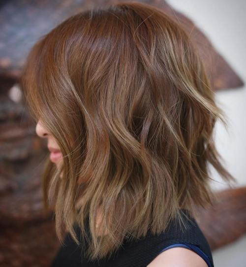 60 inspirierende lange Bob Frisuren und Haarschnitte