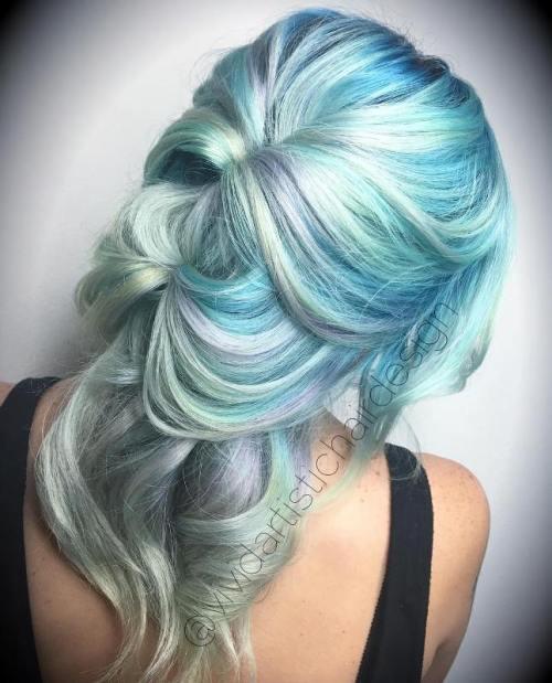 20 Mint Green Frisuren, die total erstaunlich sind