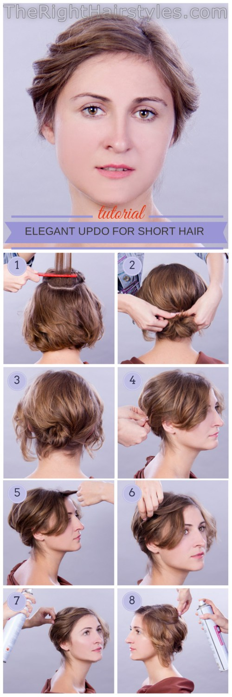 How To: Eleganter Hochsteckfrisur für kurzes feines Haar