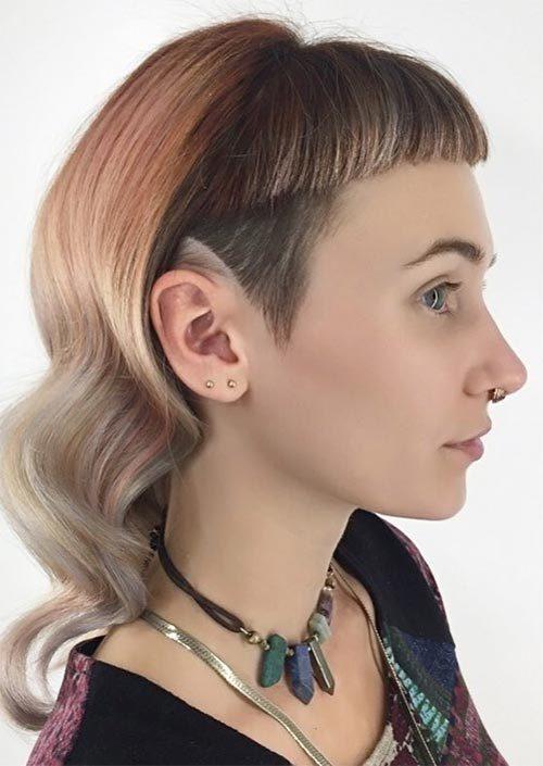 Lange Undercut Frisuren für gewagte Frauen