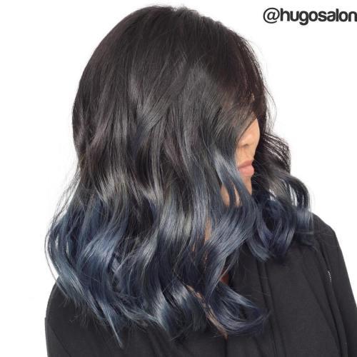 40 Fairy-Like Blau Ombre Frisuren