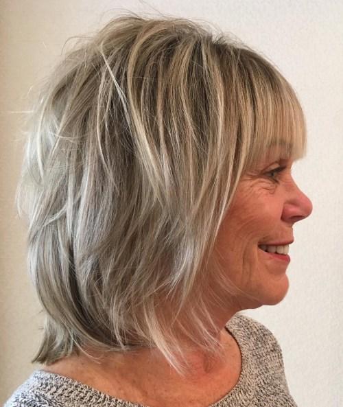 20 Shaggy Frisuren für Frauen mit feinem Haar über 50