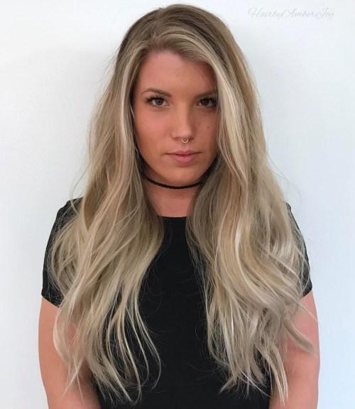 40 stilvolle Frisuren für lange blonde Haare