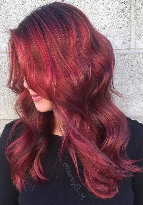 10 charmante Rose Gold Balayage Frisuren
