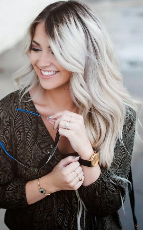 Haarfarbe Ideen mit dunklen Wurzeln für Neu