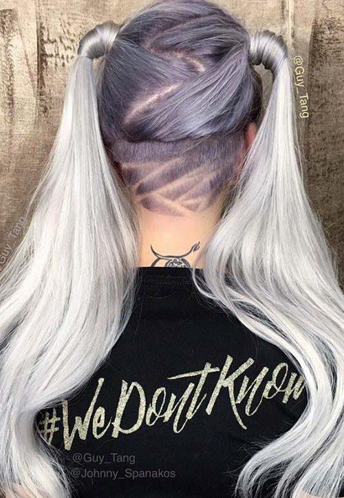 Frauen Undercuts mit Haartattoos für Beste Frisur