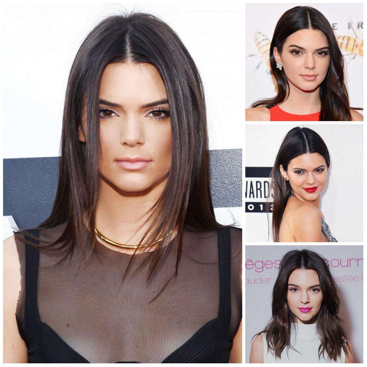 Center-Parted Frisuren von Kendall Jenner