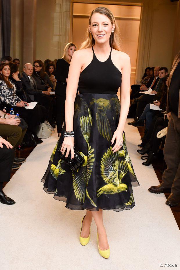 Lange Frisuren: Blake Lively's schlichter Fashion Week Look