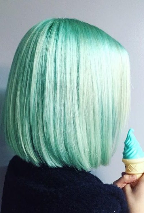 Mint Green Frisuren für Beste Frisur