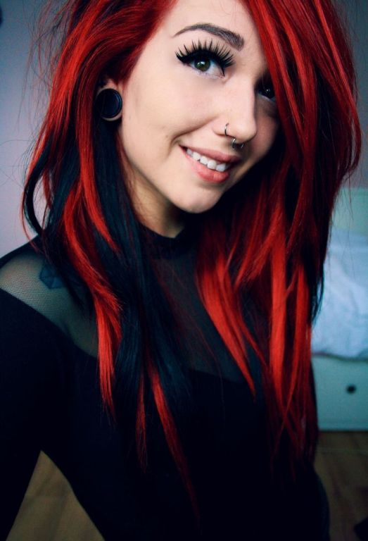 Top 10 feurige rote Ombre Hair Ideen