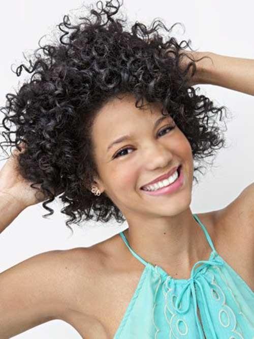 Neu Trendy kurze natürliche Afro-Curls