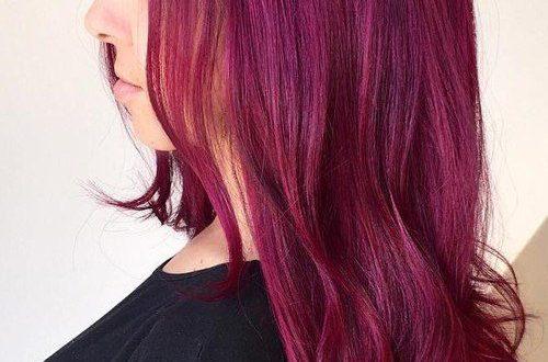 Beste Frisuren für Magenta Haarfarbe