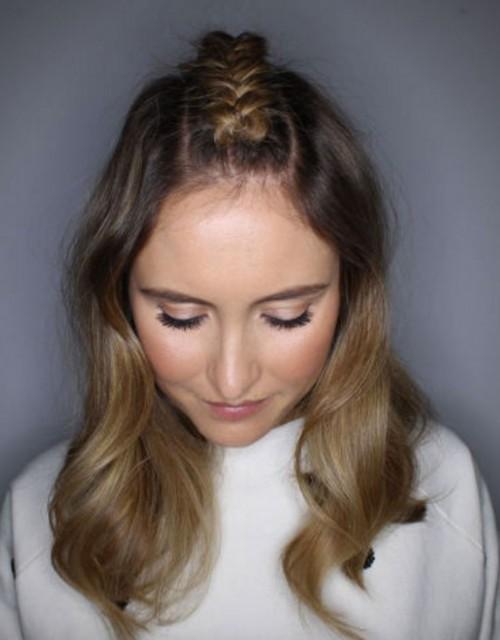 Mitte-Parted Braid Frisuren für Neu