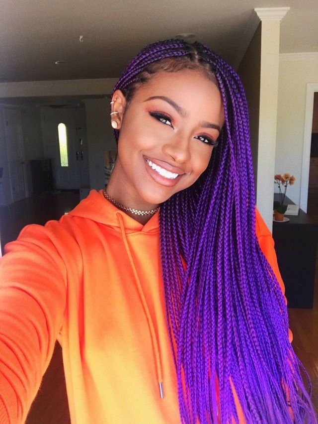 9 Perfect Examples of Purple Box Braids