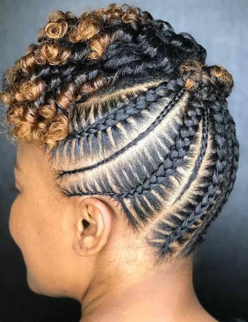 20 Super Hot Cornrow Braid Frisuren