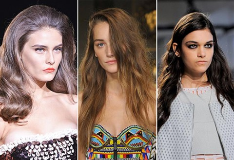 Neu Frühjahr / Sommer Haartrends; Runway Bilder