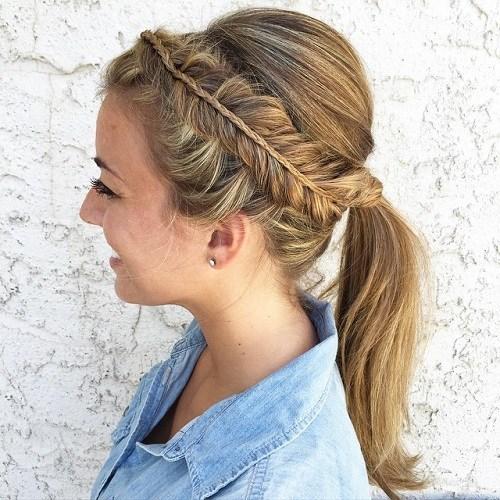 40 süße und bequeme geflochtene Stirnband Frisuren