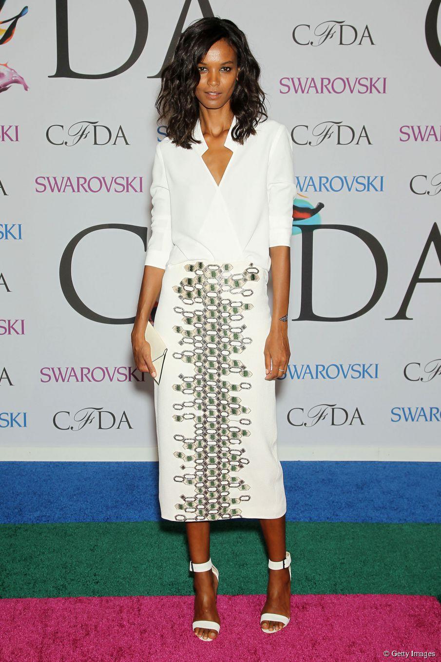 Liya Kebede bei den CFDA Fashion Awards Neu: mittellanges Haar-Tutorial