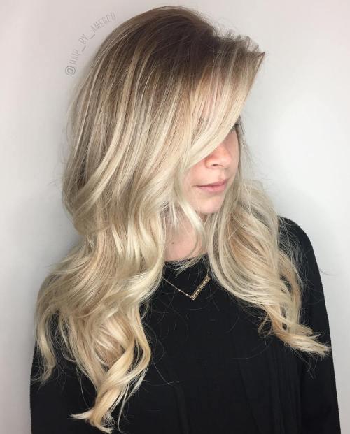 40 schöne blonde Balayage sieht
