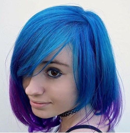 20 blaue und lila Haar-Ideen