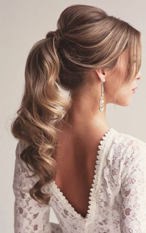 Neu lange Frisuren für Prom