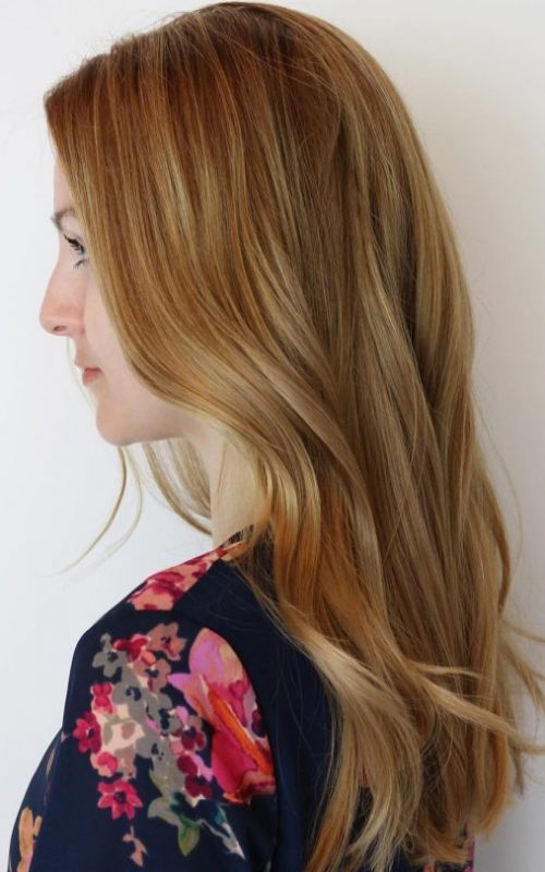 Strawberry Blonde Haarfarbe Ideen für Beste Frisur