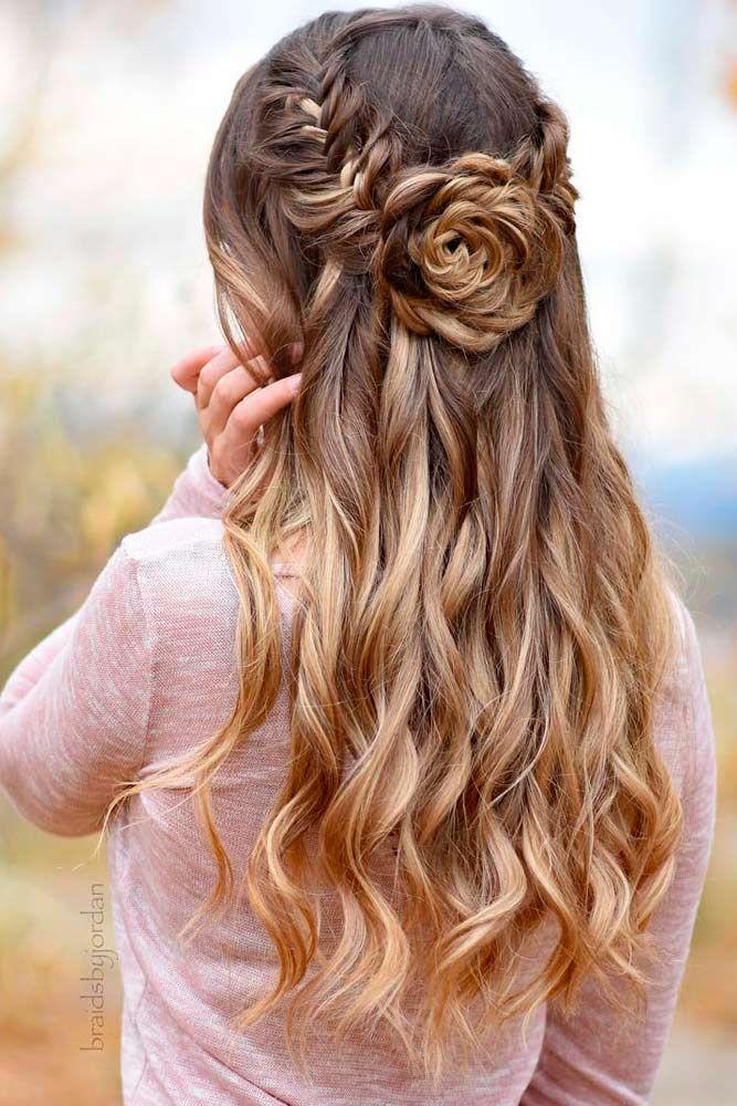 25 schönsten und schönsten Half Down Frisuren