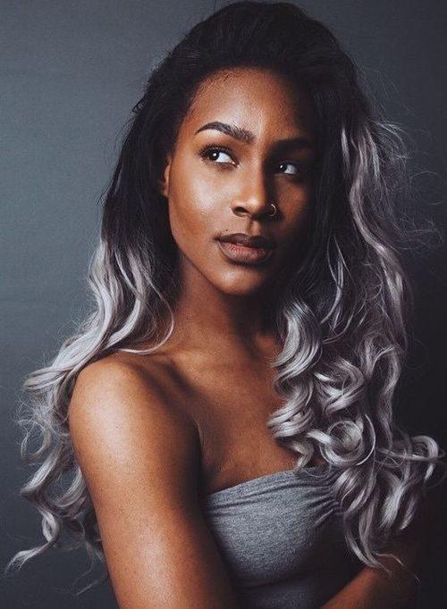 Neu graue Haarfarbe Ideen für schwarze Frauen