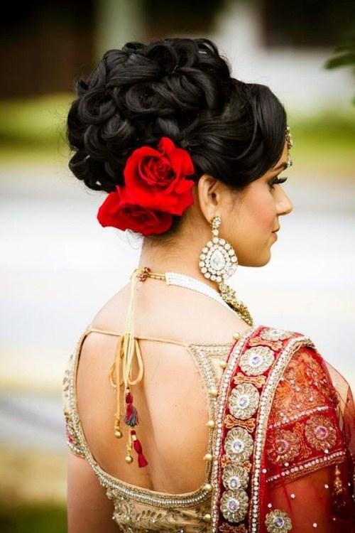 Frisuren für indische Hochzeit - 20 Showy Bridal Frisuren