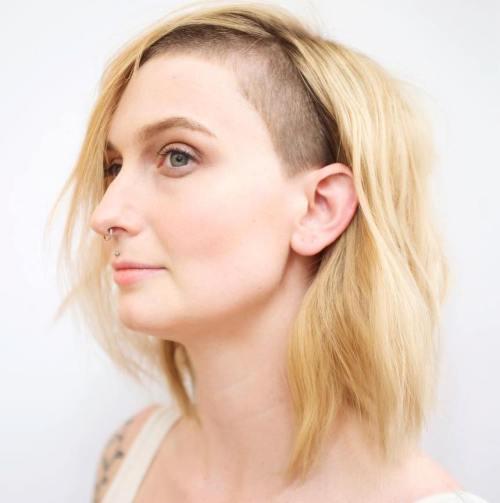 20 süße rasierte Frisuren für Frauen